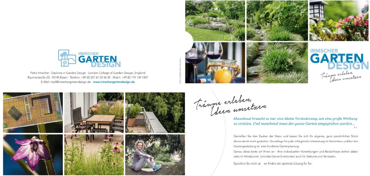 Irmscher GartenDesign Flyer